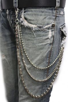 e3db5ca12b85 New Trendy Fashion Jewelry Men Wallet Chain Biker Long Fashion Jeans  Keychain Strand Motorcycle Link Silver online. Enjoy the absolute best in  Steve Madden ...