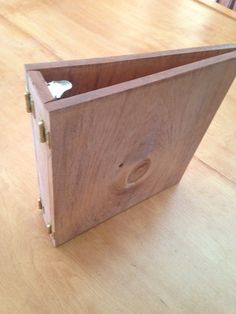Unique Wood Three Ring Binder Beautiful All by CraftyPallet