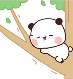 Cute Bunny Cartoon, Cute Cartoon Characters, Cute Cartoon Pictures, Cute Love Cartoons, Cute Images, Fictional Characters, Little Panda, Panda Love, Panda Bear