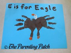 E Is for Eagle Handprint Craft | Parenting Patch