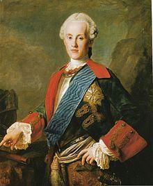 Karl von Sachsen (1733–1796) –  Herzog von Kurland und Semgallen  von 1758 - 1763