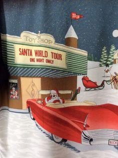 Tori Richard M Medium Short Sleeve Hawaiian Shirt 2003 Santa Christmas Car Deer #ToriRichard #Hawaiian