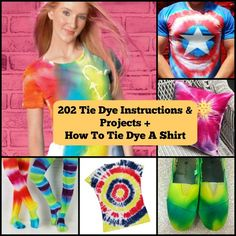 232 Tie Dye Instructions and Projects + How To Tie Dye A Shirt   FaveCrafts.com