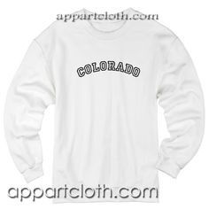 Colorado Unisex Sweatshirt are an original inspired design custom sweatshirts Sweatshirt Refashion, Sweatshirt Outfit, Cool Graphic Tees, Cool Tees, Funny America Shirts, Funny Sweatshirts, Tee Shirt Designs, Lifestyle Clothing, Clothing Company
