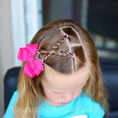 braid hairstyles easy How Baby Girl Hairstyles, Princess Hairstyles, Hairstyles For School, Trendy Hairstyles, Braided Hairstyles, Toddler Hairstyles, Hairdos, Picture Day Hair, Girl Hair Dos