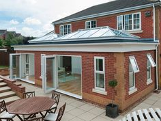 Orangery extension with aluminium roof lanterns Kitchen Extension Lantern, Orangery Extension Kitchen, Orangerie Extension, Kitchen Orangery, Conservatory Extension, Kitchen Diner Extension, Glass Roof Extension, Rear Extension, Bungalow Extensions