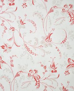 406726 Red on Cream Toile | Moda | 3 Sisters | Etchings