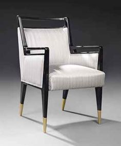 Gio Ponti; Ebonized Wood and Brass Armchair for Cassina, c1950.