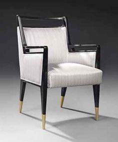 Gio Ponti; Ebonized Wood and Brass Armchair for Cassina, c1950.