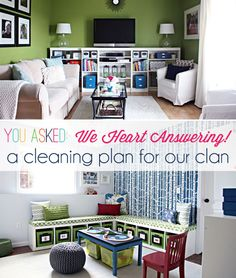 IHeart Organizing: May Mini-Challenge -You Asked: We Heart Answering! {in a VIDEO} Cleaning Plan for our Clan!