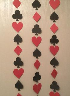 1 red, black poker card spade, club, heart, diamond garland streamer for las vegas poker party night Vegas Theme, Vegas Party, Casino Night Party, Casino Theme Parties, Party Themes, Bunco Party, Casino Royale, Vegas Birthday, Birthday Parties
