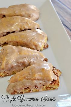 Triple Cinnamon Scones | With THREE layers of cinnamon you would think you were eating a gooey cinnamon roll!