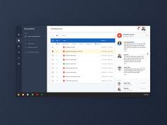 Mater design styled dashboard for document & task management.