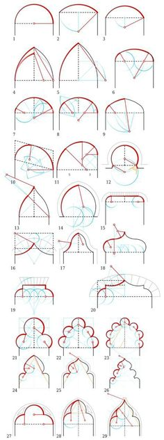 28 Super ideas for geometric art architecture geometry Art Et Architecture, Islamic Architecture, Architecture Details, Geometry Architecture, Technical Drawing, Grafik Design, Geometric Art, Autocad, Sacred Geometry