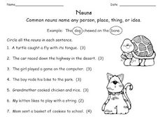 Noun Worksheets