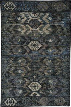 Capel Blue Striation x Rectangle Natural Fibers Hand Knotted Geometric Area Rug Ocean Rug, Rug Company, Geometric Rug, Natural Rug, Southwestern Style, Cool Rugs, Blue Area Rugs, Blue Rugs, Blue Tones