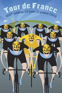 BicycleGifts.com - 100th Tour de France Riders Poster, $34.00 (http://www.bicyclegifts.com/100th-tour-de-france-riders-poster/)