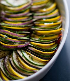 I have wanted to make ratatouille for the past couple of months. IT JUST LOOKS SOOO DELICIOUS!