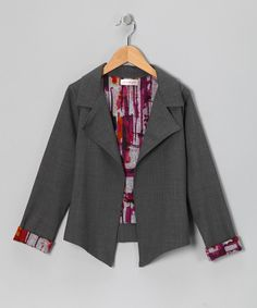 Take a look at this Gray Temperly Wool-Blend Blazer - Toddler & Girls on zulily today!
