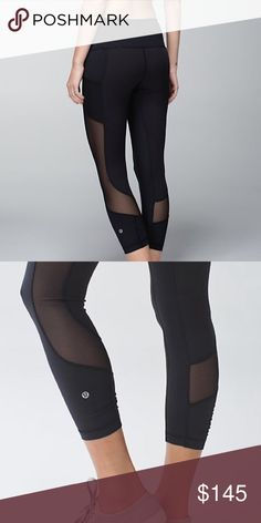 Lululemon Seek the Heat Crop Perfect condition. Mesh panels down the side. No longer sold, special edition. These are super adorable crops! Size 4. Easily fits a 6 as well. Cheaper on merc. Price is FIRM on here. lululemon athletica Pants Leggings
