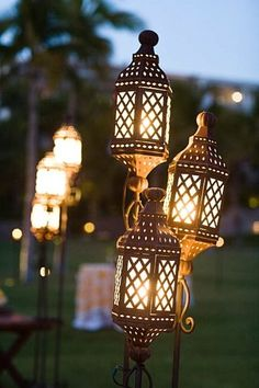 lanterns for walkways & around dance floor. Dont like these in particular though