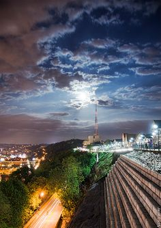 Pittsburgh Supermoon over Mount Washington by Jacob.Caddy