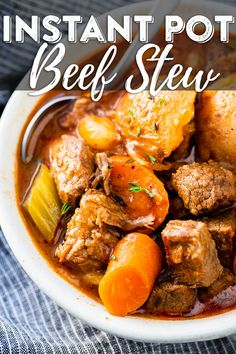 The BEST Instant Pot Beef Stew Recipe! The BEST Instant Pot Beef Stew Recipe!,Best Recipes Instant Pot Beef Stew Recipe – This easy pressure cooker beef stew is a hearty family meal that tastes. Pressure Cooker Beef Stew, Best Pressure Cooker, Instant Pot Pressure Cooker, Easy Pressure Cooker Recipes, Pressure Cooking, Instant Pot Beef Stew Recipe, Instant Pot Dinner Recipes, Recipe Stew, Easy Beef Stew