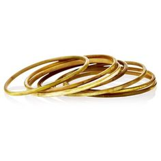 Check out this item at One Kings Lane! S/7 Green Horn Bangles