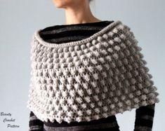 Crochet Ruana Poncho PATTERN   Lightweight por CrystalBearDesigns Bolsos En  Macrame 2b702b73858