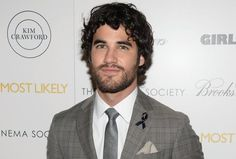 Darren Criss at the screening of Girl Most Likely, just days after Cory Monteith's passing. He's so handsome, but he just looks so sad. <3