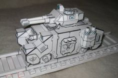 Warhammer 40K - Armoured Train Free Paper Model Download - http://www.papercraftsquare.com/warhammer-40k-armoured-train-free-paper-model-download.html#160, #ArmouredTrain, #Train, #Warhammer40K