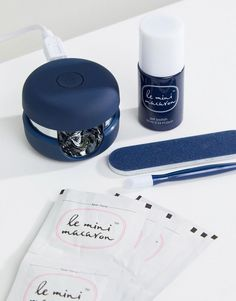 Buy Le Mini Macaron Gel Manicure Kit - Midnight Blueberry at ASOS. With free delivery and return options (Ts&Cs apply), online shopping has never been so easy. Get the latest trends with ASOS now. Mini, Asos, Gel Manicure, Makeup Collection, Spring Break, Pretty Nails, Macarons, How To Apply, Nail Art