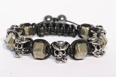 Bracelet crâne acier inoxydable/pierre de Gemmes Pyrite Crane, Bracelet Watch, Cufflinks, Charmed, Mens Fashion, Bracelets, Etsy, Accessories, Jewelry