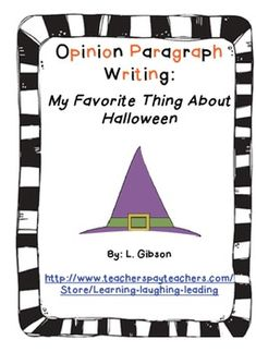 FREE Halloween Opinion Paragraph Writing