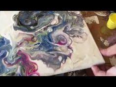 Tecnica de Martillo en Arte Acrilico Fluido Facil. Pouring. (093) - YouTube