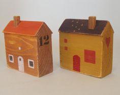 Miniature House, Shelf Decor, Wooden House, Shelf Sitter, Reclaimed Wood House, New Home Gift, Miniature Wood House, Home Decor
