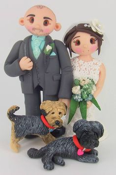 Bride & Groom Wedding Cake Toppers by Tinylove toppers  http://www.tinylove-wedding-cake-toppers.co.uk/Home_12967.html