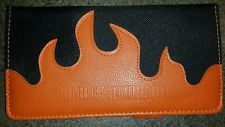 Harley davidson check book cover with flames