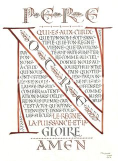 Just after penning my own in french, I find this gorgeous one: The Lord's Prayer, written in French by Tom Gourdie