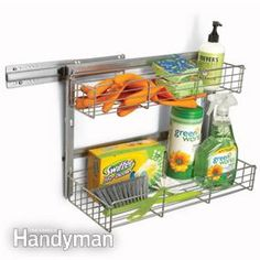 Add pull out pantry shelves to your kitchen storage cabinets to max storage space, provide easier access and save your back with pull out drawers. Kitchen Cabinet Storage, Storage Cabinets, Storage Shelves, Kitchen Organization, Storage Spaces, Oven Cabinet, Garage Storage, Storage Ideas, Ikea Cabinets