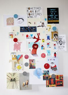 inspiration board ~ Thereza Rowe. Want a pin board like this in our garage