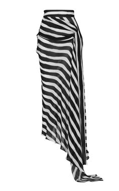 best=Aquarius Asymmetric Striped Chiffon Skirt by , Looking for the perfect prom dress to shine on your big night? Prom Dresses 2020 collection offers a variety of stunning, stylish ball. Perfect Prom Dress, Beautiful Prom Dresses, Chiffon Skirt, Silk Chiffon, Draped Skirt, Midi Skirt, Fashion Bella, Fashion Design Template, Popular Dresses
