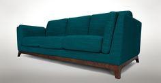Ceni Lagoon Blue Sofa - Sofas - Article | Modern, Mid-Century and Scandinavian Furniture