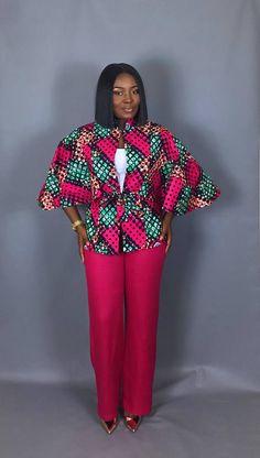 NOUVEAU vêtement imprimé IN:African capelet imprimé africain