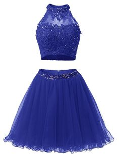 Dresstells_ø Short Homecoming Dress High Neck Beads Tulle Prom Dress Party Gown -- Additional details at the pin image, click it  : Plus size dresses