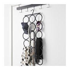 IKEA - KOMPLEMENT, Aufhänger, Benötigt nur den Platz eines Kleiderbügels und bringt doch mindestens 18 verschiedene Accessoires unter.