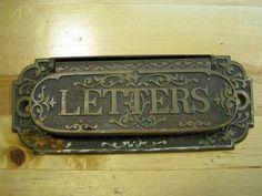 Antique Ornate Letter Slot for Mailbox by VintageMilk on Etsy