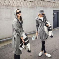 Fashion women autumn long hoodies dress zipper tracksuits long sleeve sweatshirt casual sport womens casual outerwear coat 5XL-in Hoodies & Sweatshirts from Women's Clothing & Accessories on Aliexpress.com | Alibaba Group