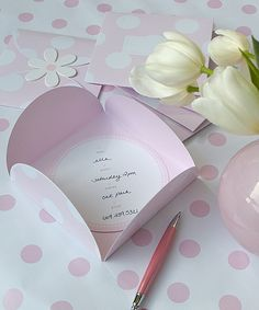 Pink Birthday Invitation//