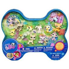Littlest Pet Shop Bird, Raccoon, Lizard, Bunny, Chic, Cat, Kitten, Turtle, Great Dane, Corgi and Monkey